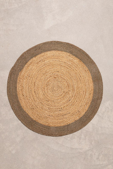 Round Natural Jute Rug Dagna Colors