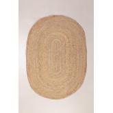 Oval Natural Jute Rug (140x100 cm) Tempo, thumbnail image 1