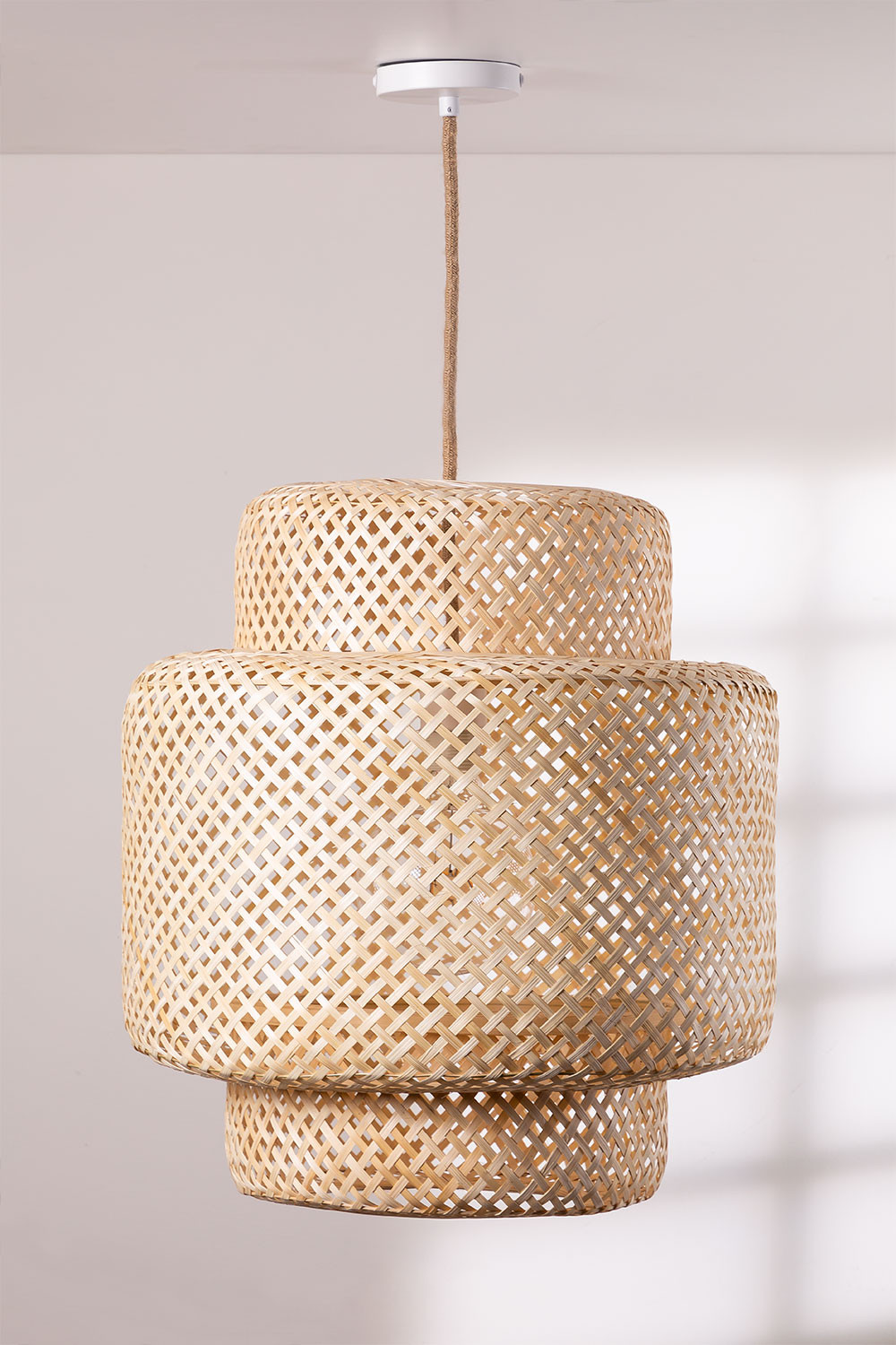 Ceiling Lamp in Bamboo (Ø45 cm) Lexie Natural, gallery image 1