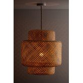 Ceiling Lamp in Bamboo (Ø45 cm) Lexie Natural, thumbnail image 2
