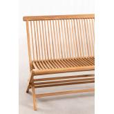 Folding Garden Bench in Teak Wood Pira, thumbnail image 4