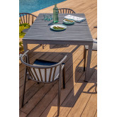 Aluminum Table Set (140x100 cm) Marti and 4 Ivor Garden Chairs, thumbnail image 1