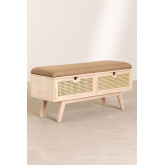 Wooden Bench with 2 Drawers Ralik Style, thumbnail image 2