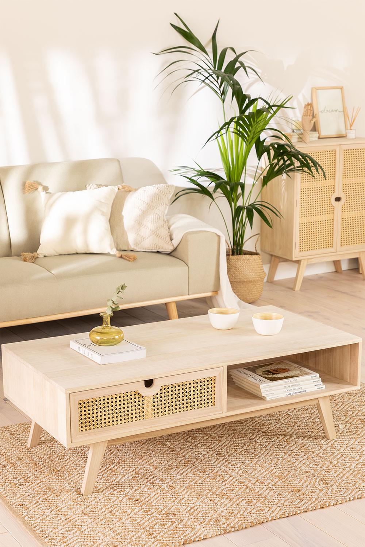 Ralik Style Wood Coffee Table, gallery image 1