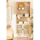 Wooden Highboard with 2 Shelves Ralik Style, thumbnail image 1