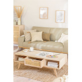 Wooden Coffee Table with Central Drawer Ralik Style, thumbnail image 2
