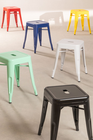 LIX Low Steel Stool