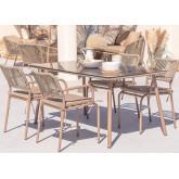 Garden Table & 4 Chairs Set Arhiza , thumbnail image 1