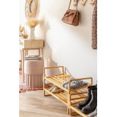 Modular Shoe Rack with 3 Shelves in Sultan Bamboo Wood, thumbnail image 2