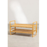 Modular Shoe Rack with 3 Shelves in Sultan Bamboo Wood, thumbnail image 4