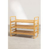 Modular Shoe Rack with 3 Shelves in Sultan Bamboo Wood, thumbnail image 5