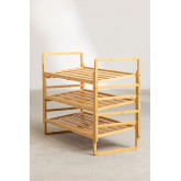 Modular Shoe Rack with 3 Shelves in Sultan Bamboo Wood, thumbnail image 6