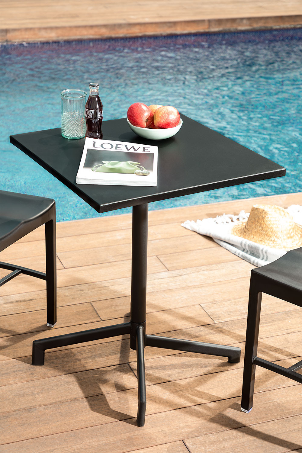 Steel Foldable & Convertible Bar Table in 2 heights Dely (60x60 cm) , gallery image 1