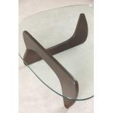 Beech Wood & Glass Coffee Table Chi, thumbnail image 4