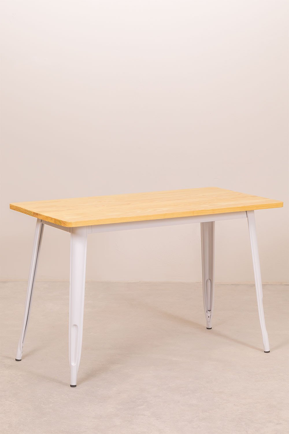 Rectangular Dining Table in Wood and Steel (120x60 cm) LIX, gallery image 1