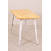 Rectangular Dining Table in Wood and Steel (120x60 cm) LIX, thumbnail image 3