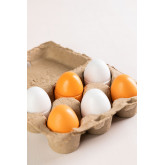 Wooden Egg Cup with 6 Okka Kids, thumbnail image 2