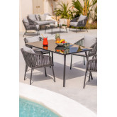 Outdoor Table in Glass & Aluminum Arhiza (160x90 cm) , thumbnail image 1