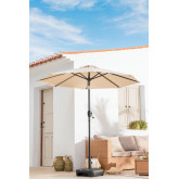 Parasol with Light in Fabric and Steel (Ø257 cm) Weky, thumbnail image 1