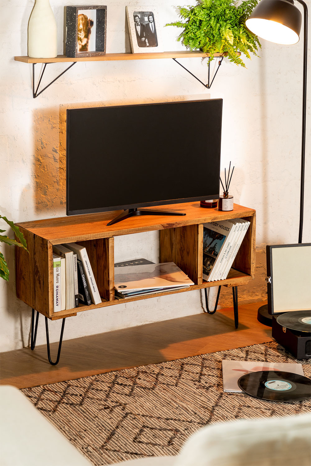 Recycled Wooden TV Cabinet Ferd, gallery image 1