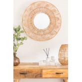 Round Wall Mirror in Rattan (Ø60 cm) Corent, thumbnail image 1