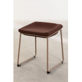 Adhon Low Stool Upholstered in Leatherette , thumbnail image 1