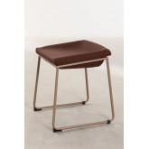 Adhon Low Stool Upholstered in Leatherette , thumbnail image 2