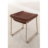 Adhon Low Stool Upholstered in Leatherette , thumbnail image 3