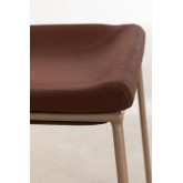 Adhon Low Stool Upholstered in Leatherette , thumbnail image 4