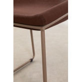 Adhon Low Stool Upholstered in Leatherette , thumbnail image 5