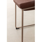 Adhon Low Stool Upholstered in Leatherette , thumbnail image 6