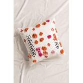 Floer Square Cotton Cushion (50x50 cm) , thumbnail image 1