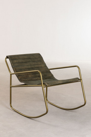 Mirah Leather Rocking Chair