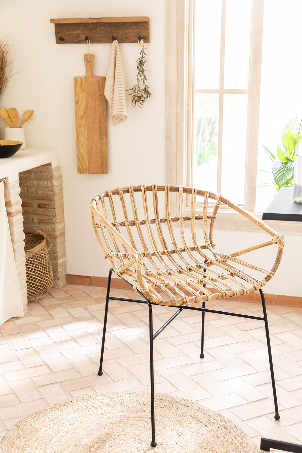 Chair in Rattan Cadza, gallery image 1