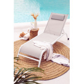 Reclinable Sun Lounger with Cushion Therys, thumbnail image 1