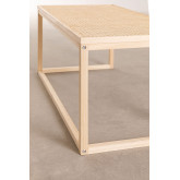 Center Table in Rattan and Riolut Wood, thumbnail image 4