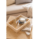Decorative Tray in Rattan and Arxie Wood, thumbnail image 1