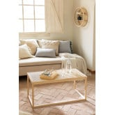 Center Table in Rattan and Riolut Wood, thumbnail image 1