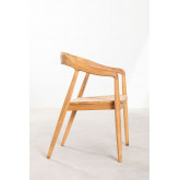 Soria Teak Wood Dining Chair, thumbnail image 2