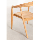 Soria Teak Wood Dining Chair, thumbnail image 3