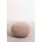 Knitted Round Pouffe Greicy , thumbnail image 2