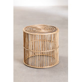 Round Qamish Bamboo Side Table, thumbnail image 1