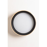 LED Ceiling Light Balto in Wood and Steel , thumbnail image 3