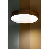 LED Ceiling Light Balto in Wood and Steel , thumbnail image 6