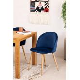 PACK 4 Velvet Dining Chairs Kana , thumbnail image 1