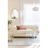 Two Seater Leatherette Chester Sofa Charly, thumbnail image 1