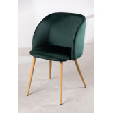 PACK of 4 Velvet Kana Dining Chairs with Armrests, thumbnail image 2