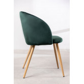 PACK of 4 Velvet Kana Dining Chairs with Armrests, thumbnail image 3