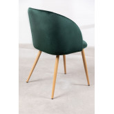 PACK of 4 Velvet Kana Dining Chairs with Armrests, thumbnail image 4
