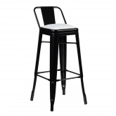 High Stool with LIX Steel Backrest, thumbnail image 5